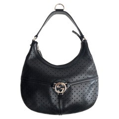 Tom Ford for Gucci black leather GG hobo bag