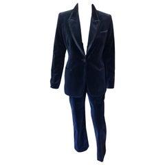 Tom Ford for Gucci F/W 1996 Runway Vintage Velvet Blazer Pants Suit