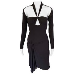 Tom Ford for Gucci F/W 2003 Bustier Cutout Black Dress