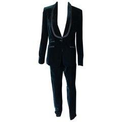 Tom Ford for Gucci F/W 2004 Runway Vintage Tuxedo Velvet Blazer Pants Suit