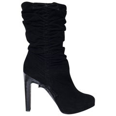 Tom Ford For Gucci Final Collection Python Runway Ad Suede Boots Sz 36.5