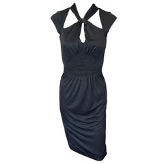 Tom Ford for Gucci Keyhole Cutout Back Black Dress