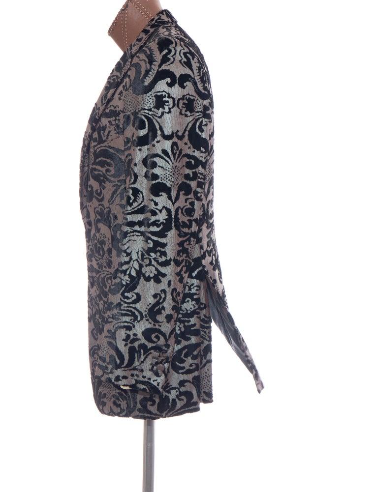 Tom Ford for Gucci Runway Damask Velvet Men's Tuxedo Blazer, Spring 2000 For Sale 6
