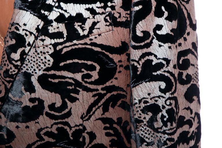 Tom Ford for Gucci Runway Damask Velvet Men's Tuxedo Blazer, Spring 2000 For Sale 8