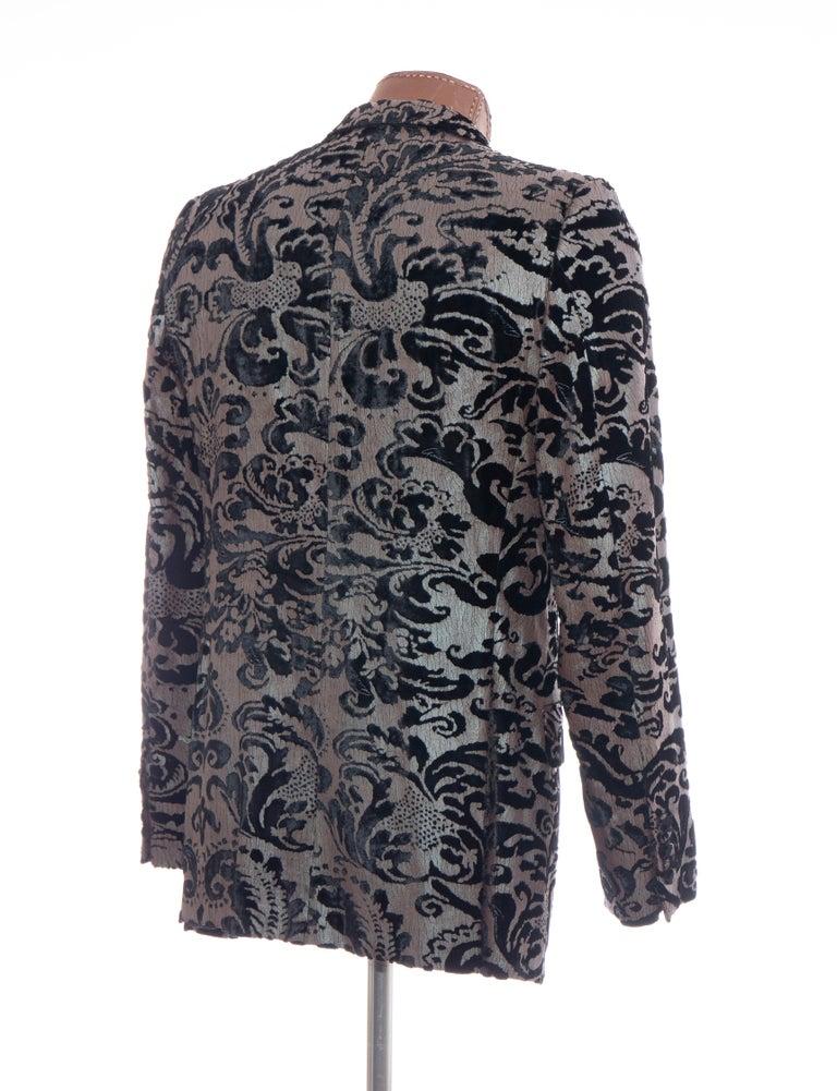 Tom Ford for Gucci Runway Damask Velvet Men's Tuxedo Blazer, Spring 2000 For Sale 1