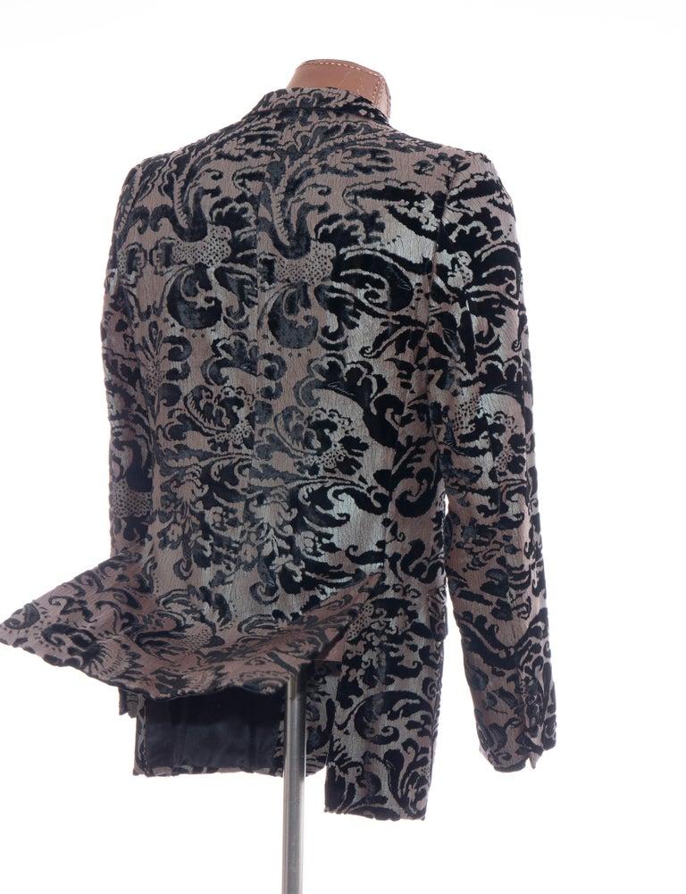 Tom Ford for Gucci Runway Damask Velvet Men's Tuxedo Blazer, Spring 2000 For Sale 2