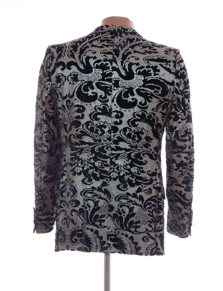 Tom Ford for Gucci Runway Damask Velvet Men's Tuxedo Blazer, Spring 2000 For Sale 3