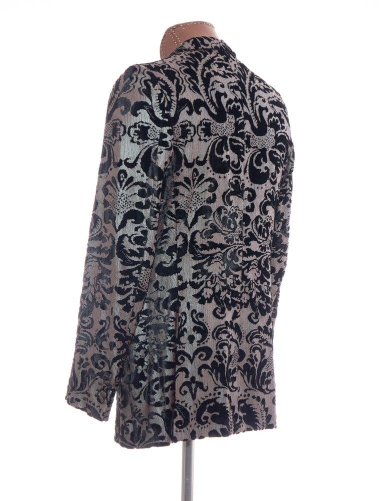 Tom Ford for Gucci Runway Damask Velvet Men's Tuxedo Blazer, Spring 2000 For Sale 4
