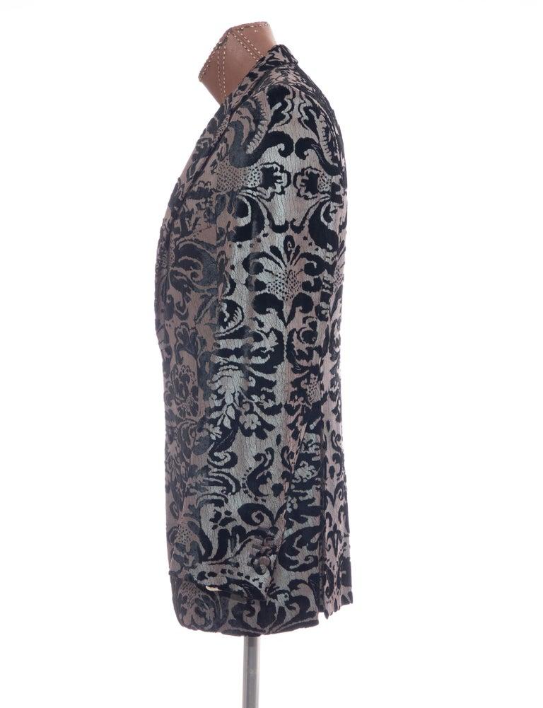 Tom Ford for Gucci Runway Damask Velvet Men's Tuxedo Blazer, Spring 2000 For Sale 5