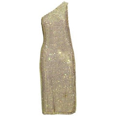 Tom Ford for Gucci S/S 2000 Runway Fully Crystal Embellished Open Back Dress 42