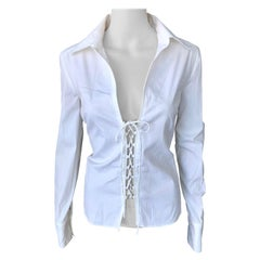 Tom Ford for Gucci S/S 2002 Lace-up White Top Shirt