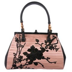 Tom Ford for Gucci S/S 2003 Silk Japanese Embroidered Floral Frame Bag