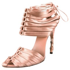 New TOM FORD for GUCCI S/S 2004 Nude Satin Corset Shoes 9 - It. 39