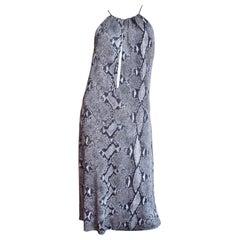 Tom Ford for Gucci Silk Python Print Dress