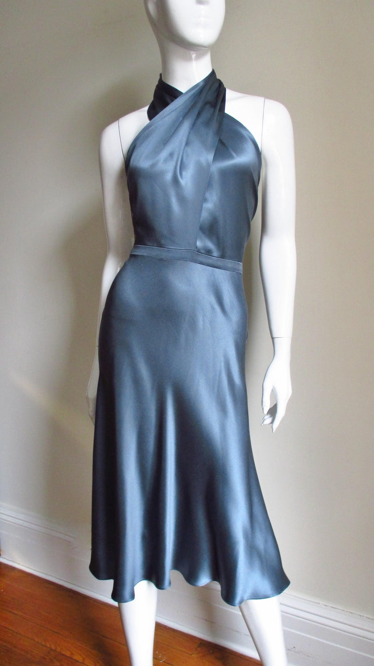 Tom Ford For Gucci Silk Wrap Neck Halter Dress For Sale At