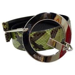 "Tom Ford For Gucci Snakeskin ""G"" Belt"