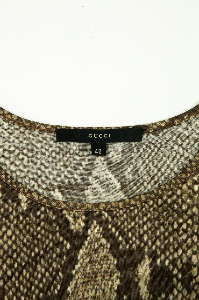 Tom Ford For Gucci SS 2000 Snakeskin Jersey T-Shirt For Sale 2