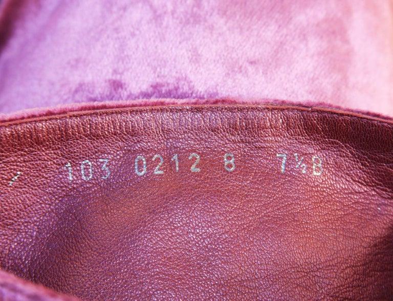 Tom Ford for Gucci Vintage F/W 1999 Pink Velvet Over Knee Boots 7.5 B For Sale 1