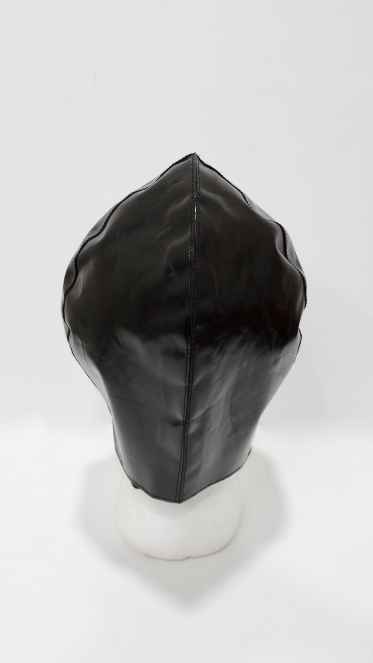 Tom Ford for Yves Saint Laurent Black Leather Flight Cap  For Sale 1
