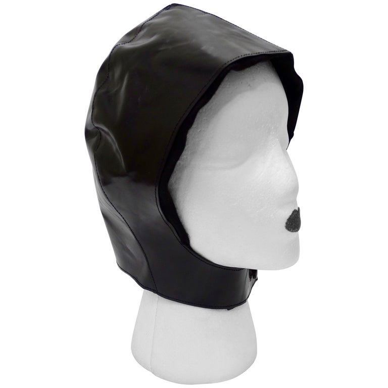 Tom Ford for Yves Saint Laurent Black Leather Flight Cap  For Sale