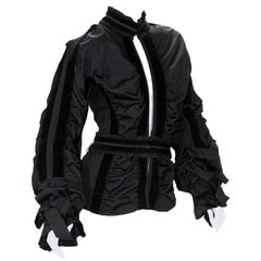 Tom Ford for Yves Saint Laurent F/W 2002 Collection Black Taffeta Velvet Jacket