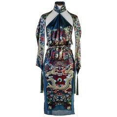 Tom Ford for Yves Saint Laurent F/W 2004 Chinoiserie Collection Skirt Set Fr. 38