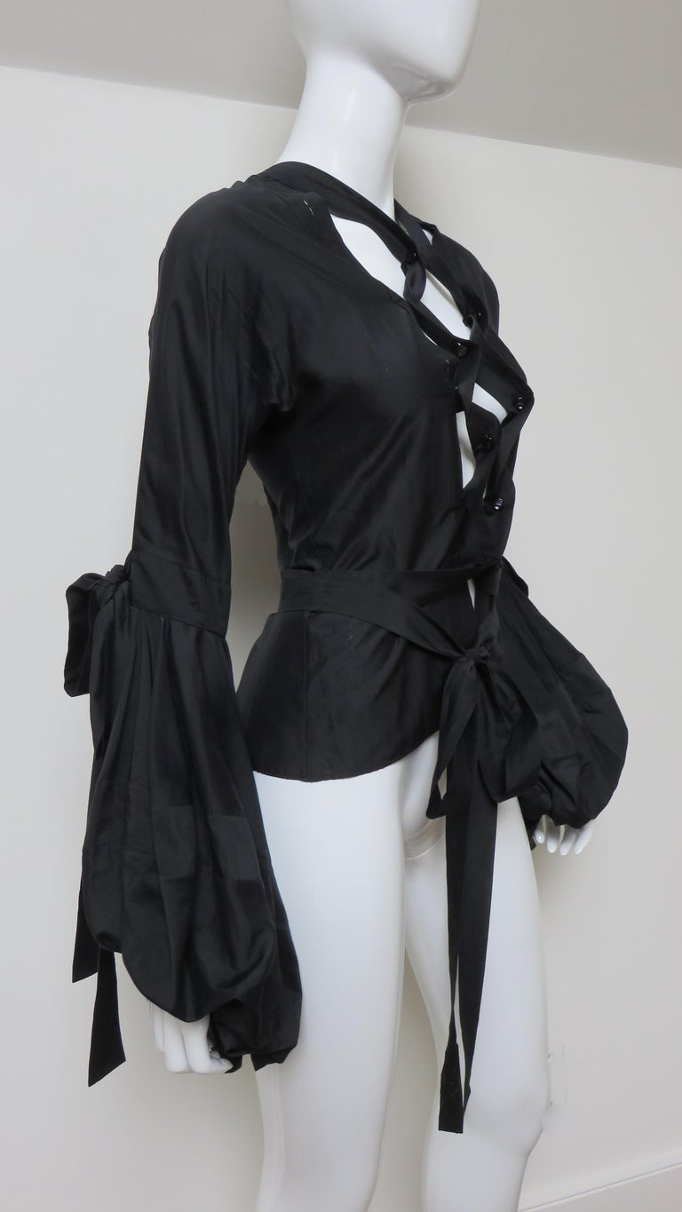 Tom Ford for Yves Saint Laurent Lace up Blouse F/W 2002 For Sale 5