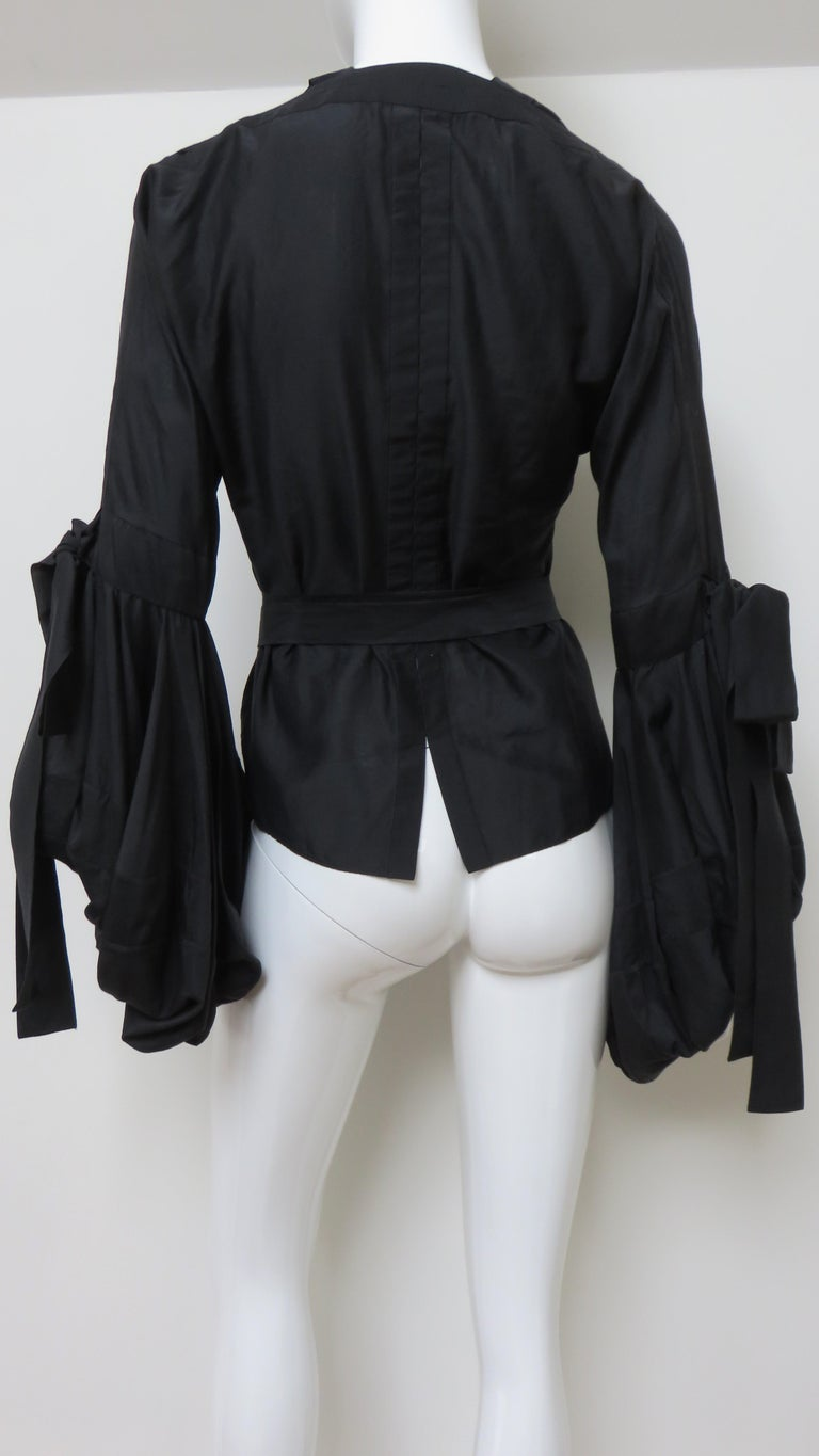 Tom Ford for Yves Saint Laurent Lace up Blouse F/W 2002 For Sale 8