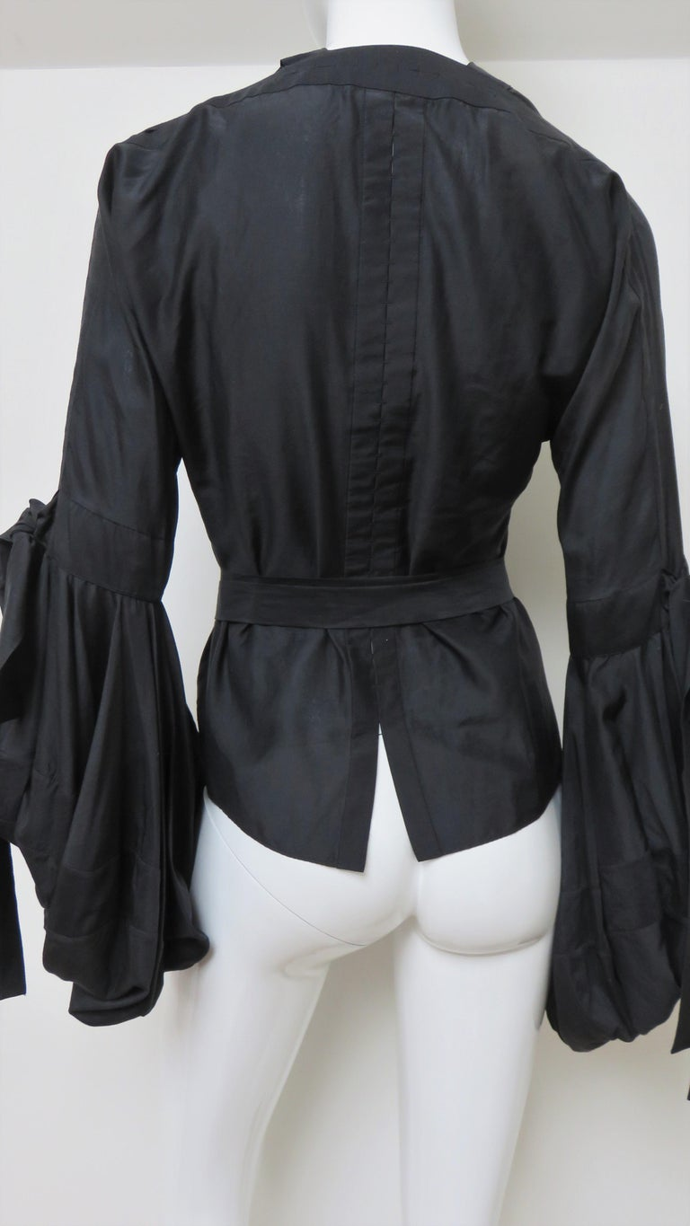 Tom Ford for Yves Saint Laurent Lace up Blouse F/W 2002 For Sale 9