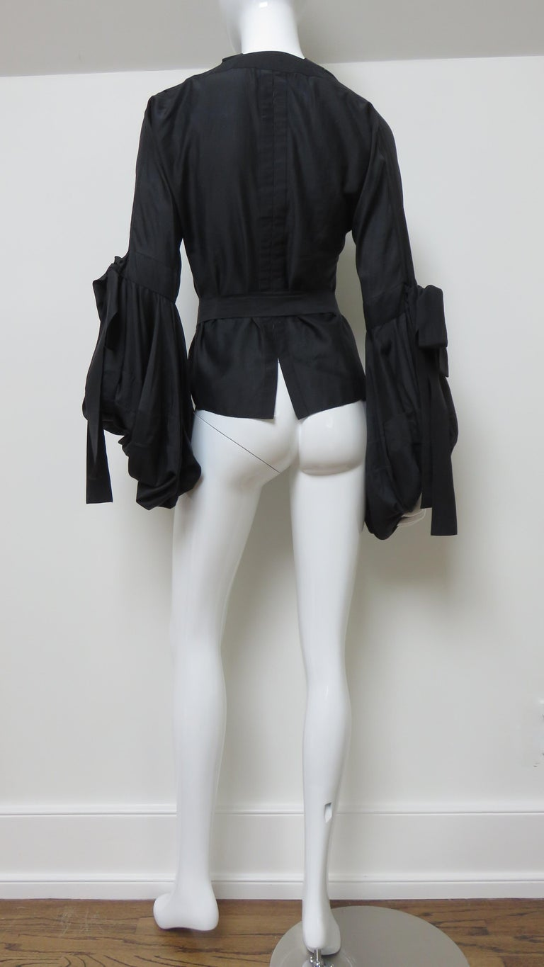 Tom Ford for Yves Saint Laurent Lace up Blouse F/W 2002 For Sale 11