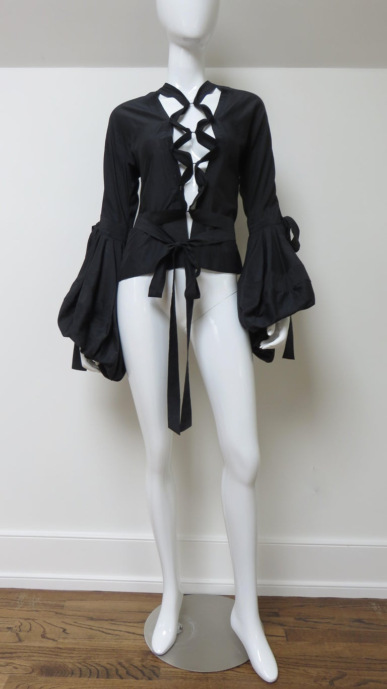 Tom Ford for Yves Saint Laurent Lace up Blouse F/W 2002 For Sale 4
