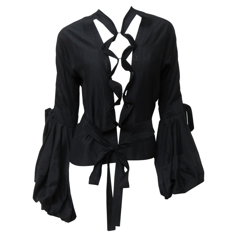 Tom Ford for Yves Saint Laurent Lace up Blouse F/W 2002 For Sale