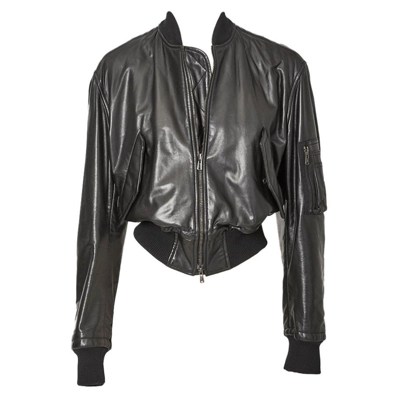 b9756c7cd Tom Ford for Yves Saint Laurent Leather Bomber Jacket
