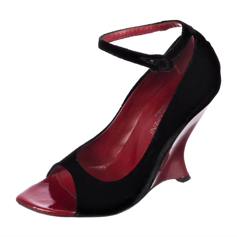Women's Tom Ford for Yves Saint Laurent YSL Final Collection Museum Heels Sz 38.5 For Sale