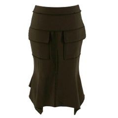 Tom Ford Green Fit & Flare Utility Skirt - Size US 2/4 XXS