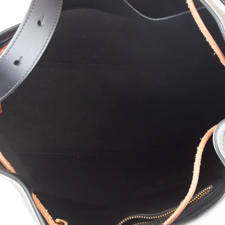 Women's TOM FORD grey calf hair FISHERMAN HOOK HOBO Shoulder Bag For Sale