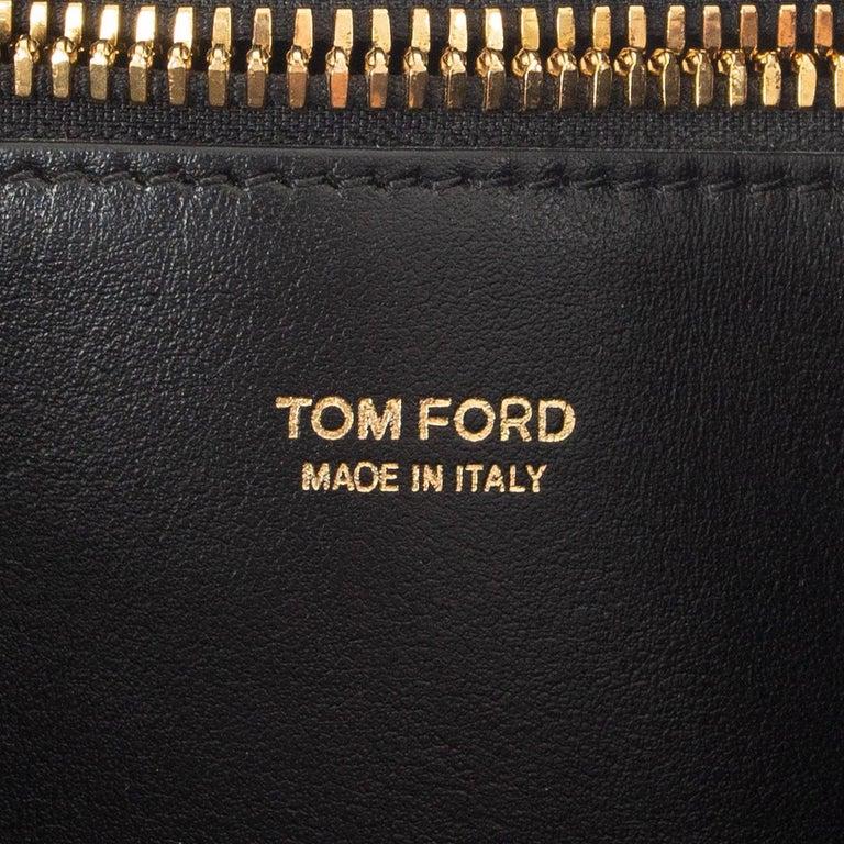 TOM FORD grey calf hair FISHERMAN HOOK HOBO Shoulder Bag For Sale 2