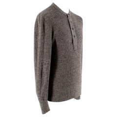 Tom Ford Grey Long-sleeved Knit Wool Top - Size US 38