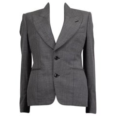 TOM FORD grey woolFitted Blazer Jacket 38 XS