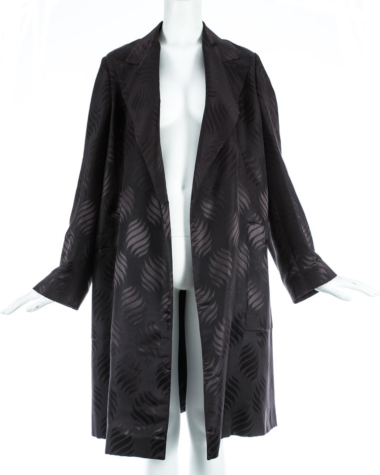 Tom Ford Gucci black silk evening robe with matching Obi belt, A/W 2001 For Sale 3