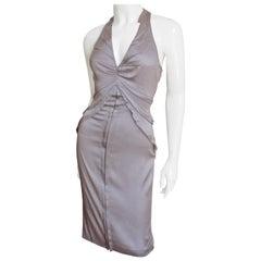 Tom Ford Gucci Lavender Silk Bodycon Dress 2003