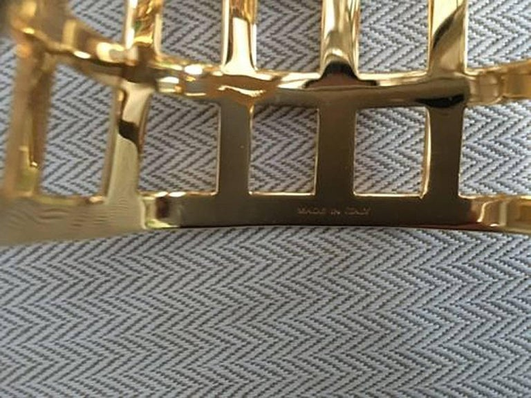 Tom Ford Hi Fashion Gold Metal Cage Cuff Bracelet For Sale 3