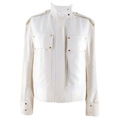 Tom Ford Ivory Military Style Jacket 36