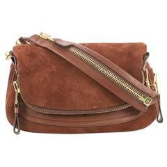 Tom Ford Jennifer Shoulder Bag Suede with Leather Medium
