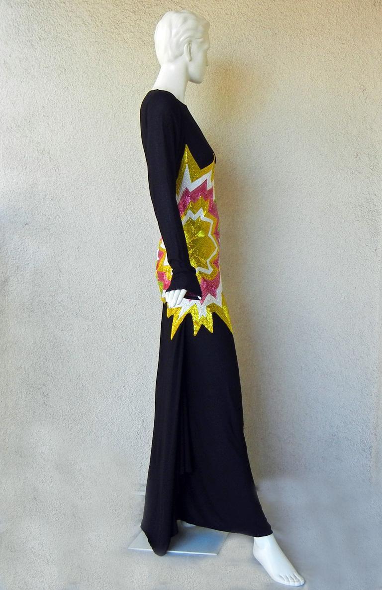 Women's Tom Ford Lichtenstein-esque Ka-Pow Explosive Appliques Dress Gown  New! For Sale
