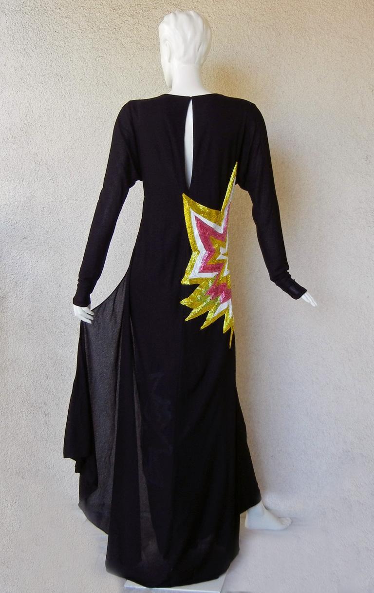 Tom Ford Lichtenstein-esque Ka-Pow Explosive Appliques Dress Gown  New! For Sale 1