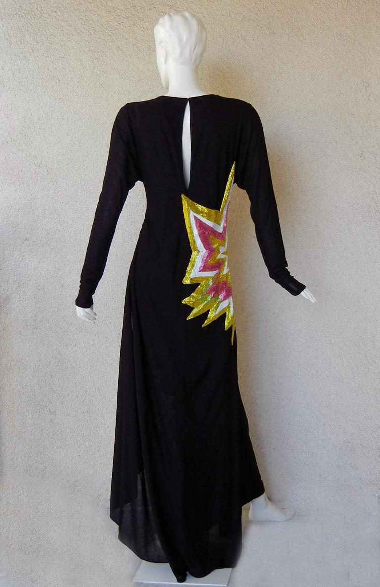 Tom Ford Lichtenstein-esque Ka-Pow Explosive Appliques Dress Gown  New! For Sale 2