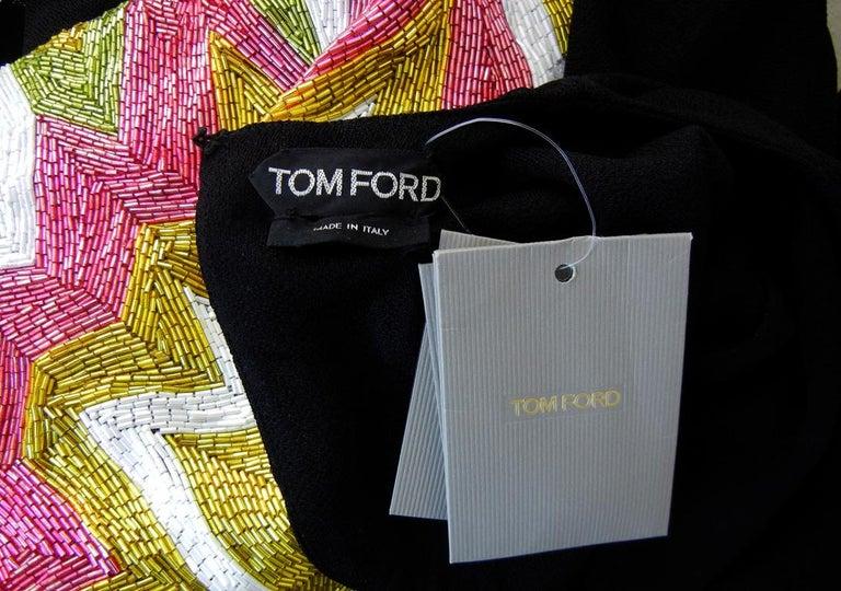 Tom Ford Lichtenstein-esque Ka-Pow Explosive Appliques Dress Gown  New! For Sale 3