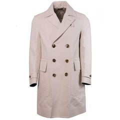 Tom Ford Men's Beige 100% Cotton Trench Style Raincoat