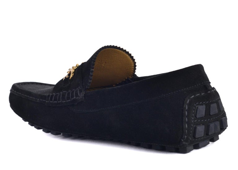 76995118d45 Tom Ford Mens Black Suede York Chain Drivers Loafers In New Condition For Sale  In Brooklyn